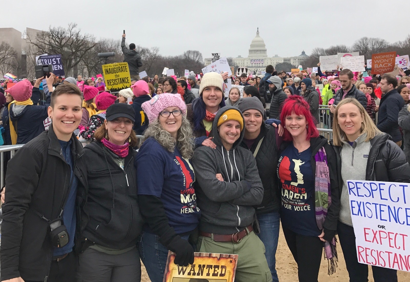 Amanda Wright, Wright Now Wellness at the Women's March
